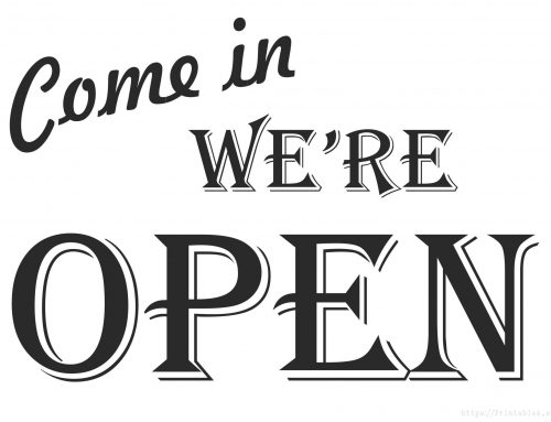 Update: We are OPEN! New carry-out menu!